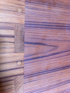 Detail 1, teak wood